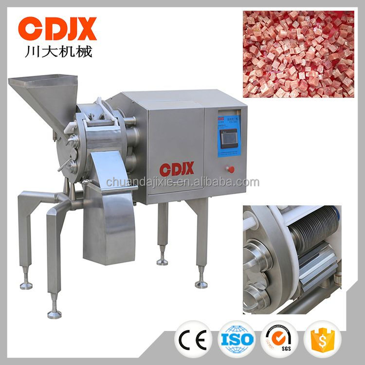 High quality new design commercial frozen meat cube cutting machinery