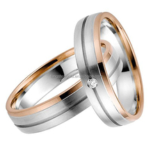 rose gold plated titanium wedding rings his and hers wedding sets