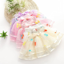 fashion kids girls cherry tutu 2015 new style chindren cherry skirts girls tutu skirts kids baby fluffy pettiskirts SK-3