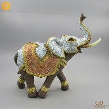 Promotional Animal Statue Figure, Thailand Elephant Statue Ornament, Thai Elephant Decor Souvenir