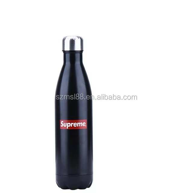 500ml /750ml stainless steel vacuum insulated cola shape water bottle sport thermos flask #304 bottle