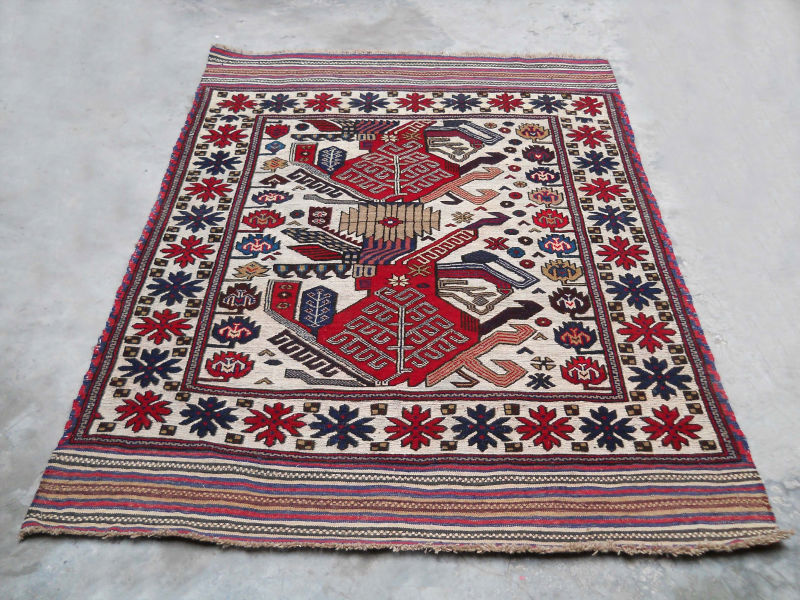 FINE QUALITY COLOURFUL AFGHAN GULEBARGESTA RUG