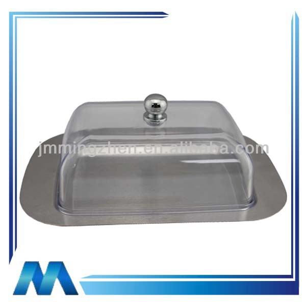 Rectangular shape with lid stainless steel butter dish