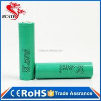 Long life cycle 35Amps 18650 2500mah 3.7V rechargeable li-ion lithium battery