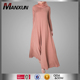 Muslim Women Everyday Abaya Design Simple Knitted Long Dress Soft to Wearing