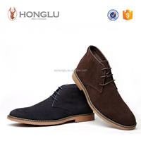 New Style Gum Sole Suede Man Flat Boots, Designer Desert Boot Shoes Men, High Quality Men Casual Boots