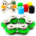 Roller Chain Fidget Toy Stainless Steel Flipping Chain Finger Tips Stress Reducer Perfect For ADHD ADD and Autism