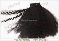 Best selling Hair Style afro kinky Curly Unprocessed Virgin Brazilian Hair Weave