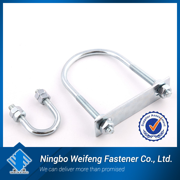 u shape bolts square/China U bolt supplier,zinc plated,manufacturing and producer in Ningbo