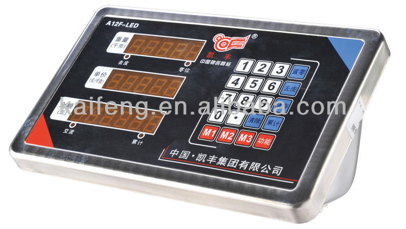 Factory suppy Waterproof weighing indicator 150kg A12 from kaifeng