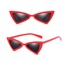 2018 new products factory dropshipping triangle frame uv400 cheap plastic sun glasses CJ9789 in stock