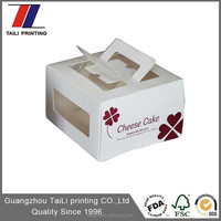 Customized paper decorative package box for cake