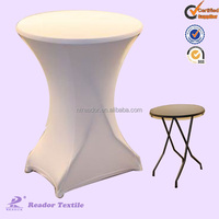 spandex cocktail table cover and lycra table cloth and top cover