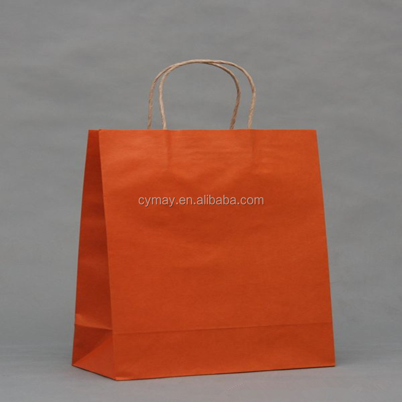 Promotion custom logo print cheap kraft fashion paper shopping bag with handle