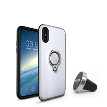 magnet car holder kickstand case magnetic ring stand holder case for iphone 7 Huawei Samsung