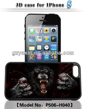 Hot selling wallet case for iphone 5 with 3d image,3d character case,New fashion armor deployment 3d case for iphone 5