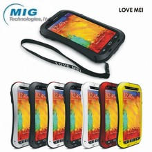 Original Love Mei brand small waist AL metal tri protect case for Samsung note 3, phone case for Samsung galaxy note 3 cover