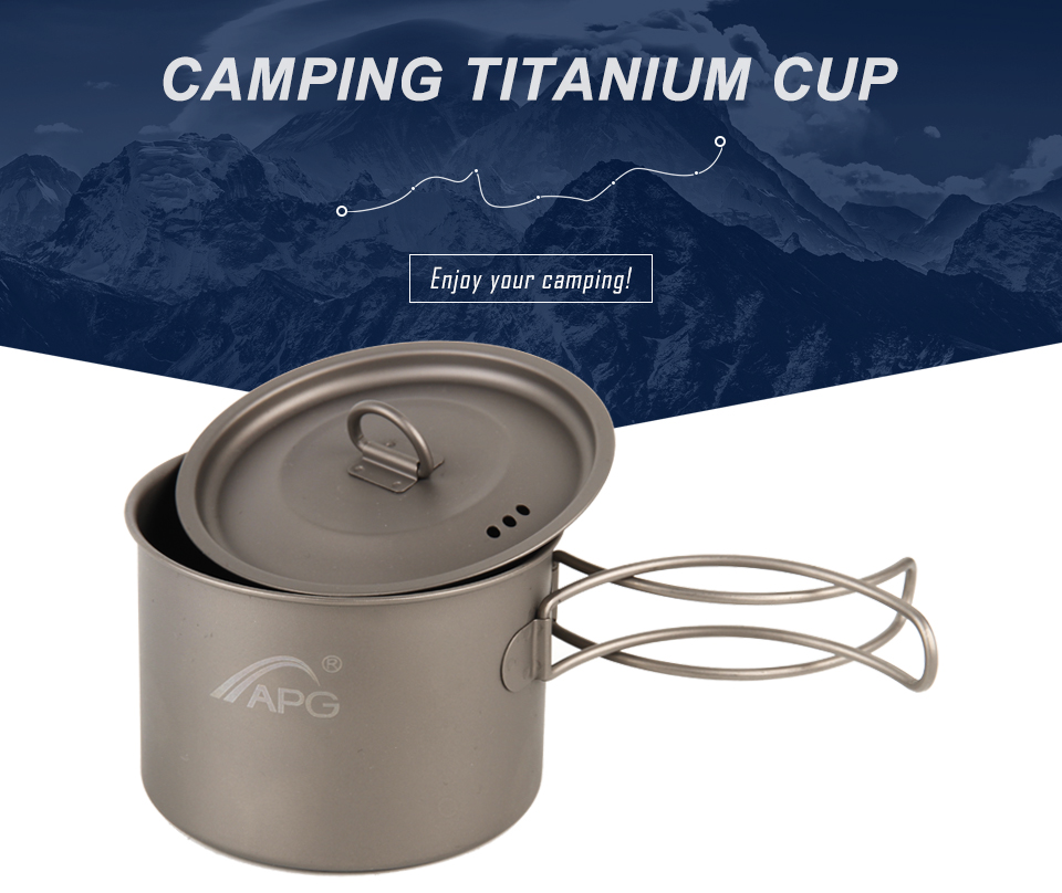 APG Titanium Camping Metal Travel Mug Coffee Tea Cup