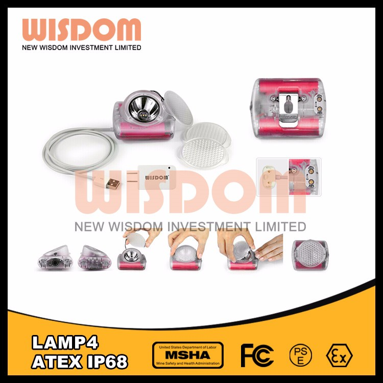 Wisdom lamp 4 rechargeable headlight on warning chime with power bank function