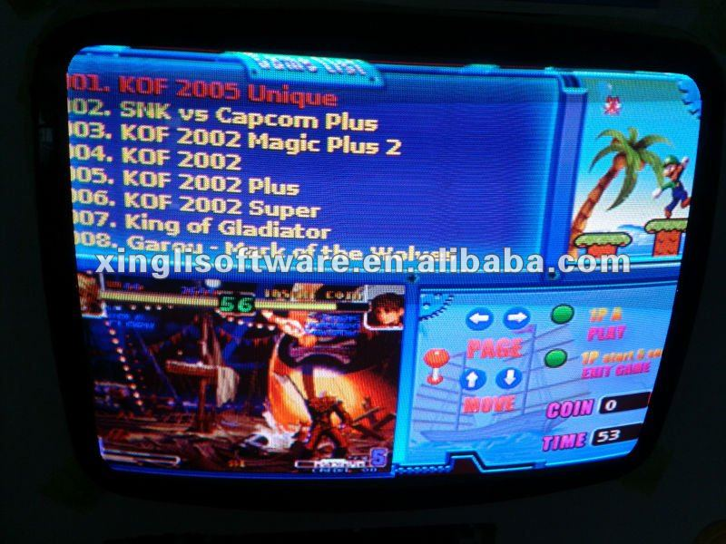Game Elf 621 in 1 arcade game board,for vga and cga