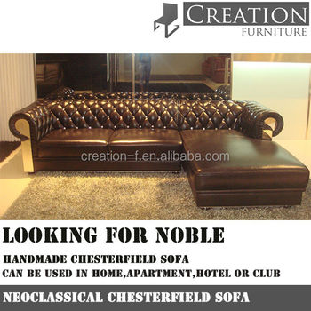 Classical Chesterfield Sofa/Leather sofa