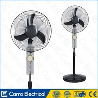 Hot selling quietest oscillating pedestal fans 12v 16inch with dc motor
