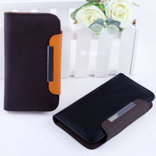 High quality phone flip leather cover stylish folded megnetice wallet for samsung galaxy s4 leather flip case