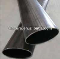 oval steel pipe/oval steel tube/oval exhaust pipe ASME ANSI JIS GB Q195--Q235 oiled surface treatment black anneal steel pipe
