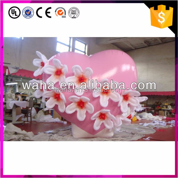 2017 new brand wedding inflatable/inflatable heart