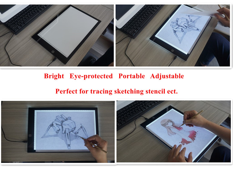 Best Lightweight USB Adjustable Graphic Tattoo Drawing LED Light Pad Photography Animation Craft Art Stencil Tracing Light Box