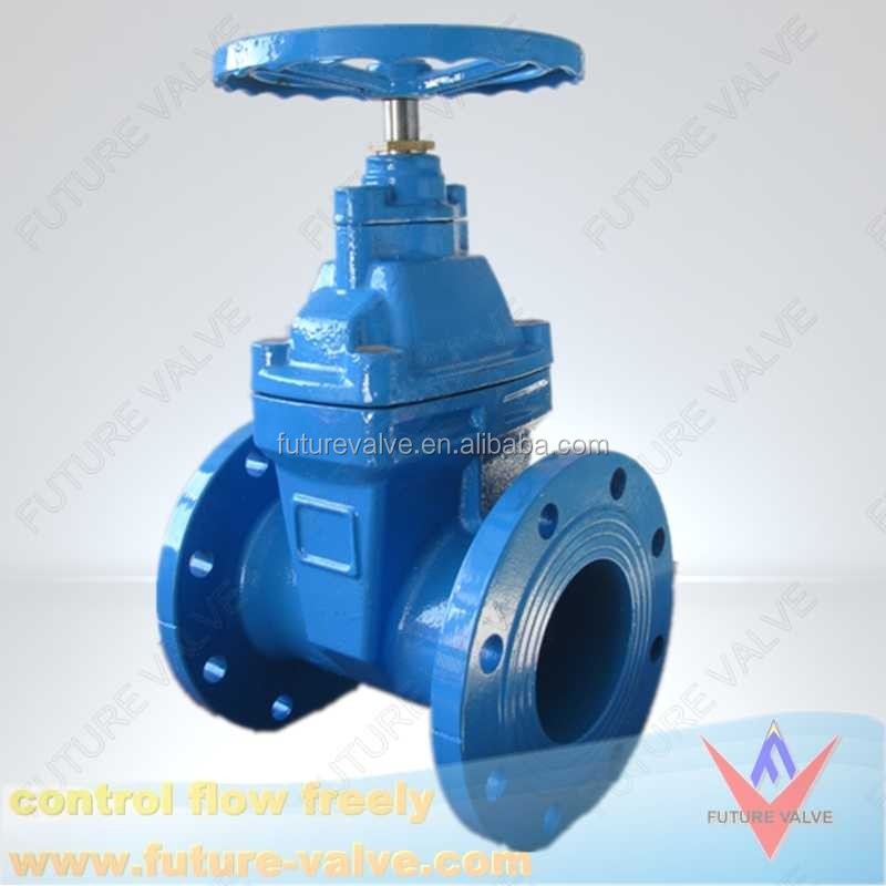 valve supplier DIN resilient seated non rising stem 400 mm gate valve