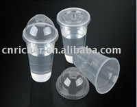plastic disposable cup with lid