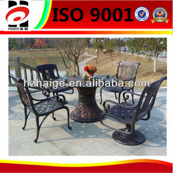 customized aluminum many people oversized outdoor furniture table and chair