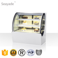 Bakery Cake Display Fridge Commercial Showcase Fridge On Sale Air Cooling White Color