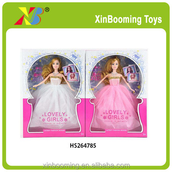 pretty girl 11.5inch weeding dress dolls