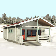 new design for wood log cabin ktis prefab house with cheap price
