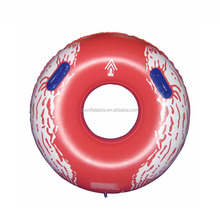 Red PVC skiing product winter sport inflatable snow tube