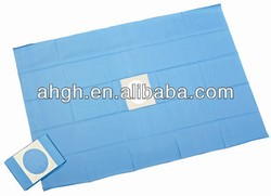 disposable surgical drapes with hole and adhesive 45x60cm