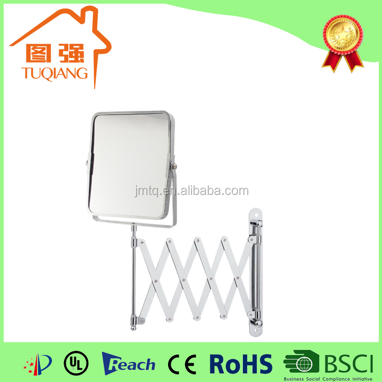 Bathroom square wall mounted extending mirror