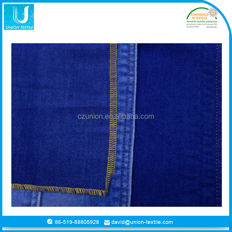 cotton colored yarn dyed denim fabric