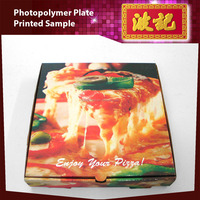 4 Color Flexographic Photopolymer Pizza Plates