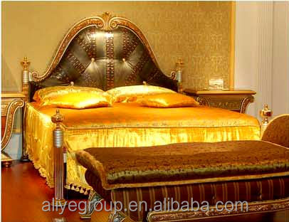 royal style ashley furniture bedroom sets with french headboard expensive furniture AAS101