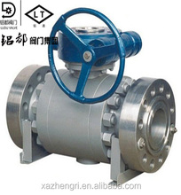 The best quality Pneumatic ANSI Cast Steel Flange 3PC Trunnion Ball Valve
