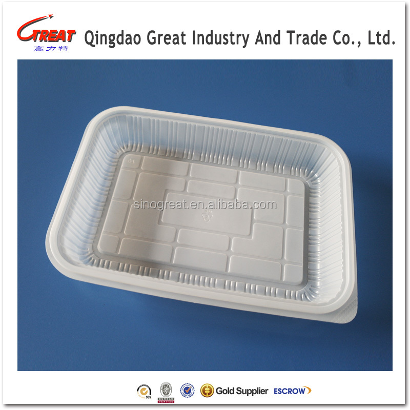 Hot Sale Food grade disposable plastic fruit trays sushi tray wholesale designer food serving trays