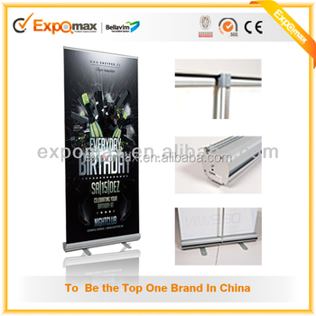 Cheap menu board roll up banner stand