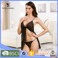 2015 Fashion Delicate Lovely Girl Transparent Sexy Lingerie Babydoll First Night Sexy Dress