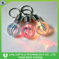 Promotional led bulb key chain, light bulb keychain, led keychain bulb