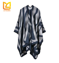 Women open front oversize long cardigan western poncho