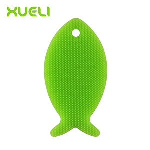 Antibacterial Silicone Dish Scrubber Sponge Brush for Dishwashing, Multi-purpose Cleaning Such as Makeup