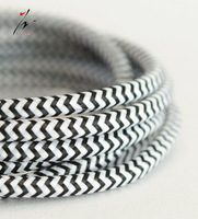 Colorful Cloth Covered Electrical Cord Vintage Fabric Braid Lamp Cable Retro Textile Pendant lamp Wire 2*0.75MM